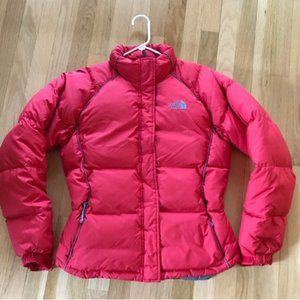 North Face Womens Medium Red Nuptse Jacket Coat